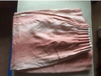 Pink patterned curtains