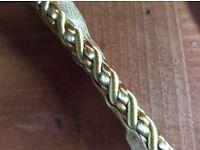 Gold coloured trim