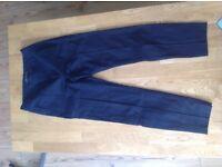 Zara navy tapered trouser
