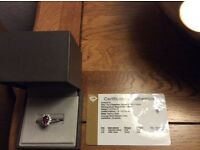 Cluster Rajasthan Garnet and White Topax ring