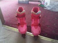 Barbie roller boots size 12/13
