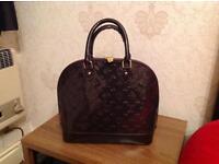 Dark Brown, Patent Bag
