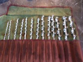 Full set of 13 Mahwood brace and bit drills