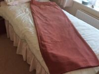 Pink velvet curtains with blackout lining curtains