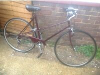 Vintage Ladies Raleigh Mixte Frame Cycle ( spares or repair
