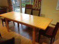Habitat dining table, extendable