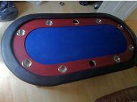 "96"" Texas Hold'em Folding Casino Poker Table"
