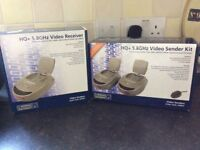 Nikkai video sender and double receiver set