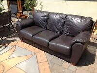 cumfy three seater sofa free to collector