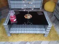 Brand new rattan low table