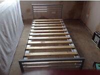 Modern chrome metal single bed for sale