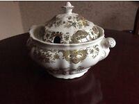 Ridgeway of Staffordshire 'Windsor' multi coloured large serving terrine bowl