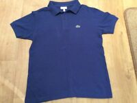 Lacoste blue boys age 13 years polo shirt