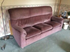 Three seat sofa and two armchairs, or separately.