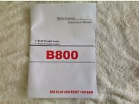 BMW Z3 B 800 air bag scan & reset