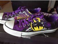 Size 7 Batman Converse - 9 pairs
