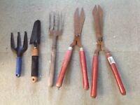 Garden tools, hand tools X 5