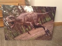 Two large dinosaur pictures