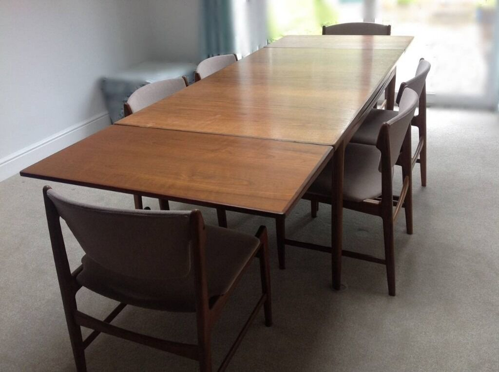Kofod Larsen For G Plan Table Dining Danish Modern Teak