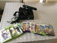 Xbox 360 with Kinect,Headset,2 controllers and Games