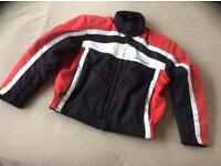 Hein Gerricke light weight motor cycle jacket, with armour. Small