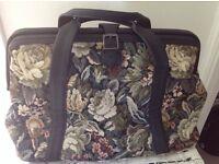 Marks and Spencer Black Tapestry weekend Bag