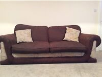 Three seater sofa and matching swivel chair