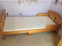 Mothercare Toddler Junior Bed extendable with mattress £40 ono