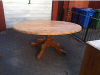 Lovely Pine Oval Dining Table