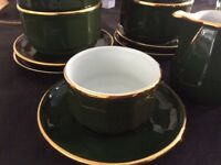 Green and Gold Coffee Set