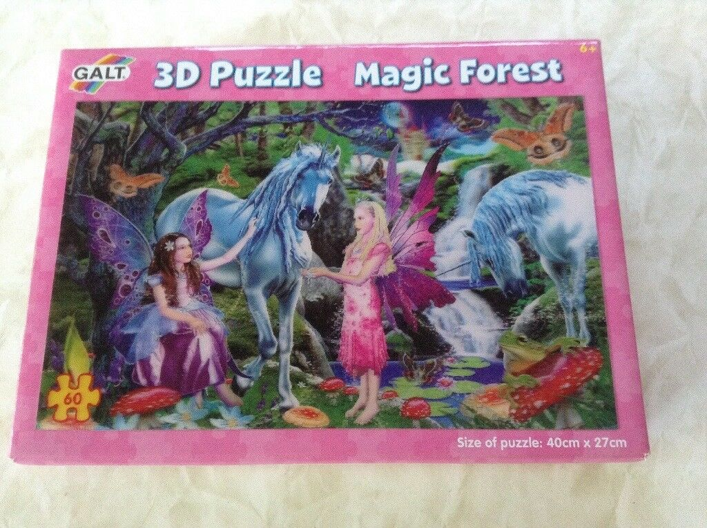 "Fairy ""Magic Forest"" 3D Jigsaw Puzzle by GALT - virtually new"