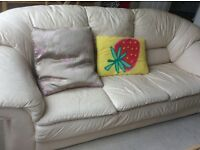 Free sofa to collect. 3 places leader sofa with two cushions
