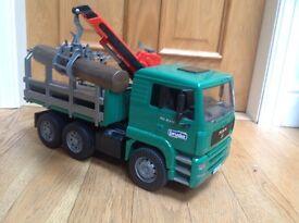 Bruder Logging Truck Toy Model - fully operating