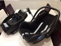 Baby car seat and base very good condition