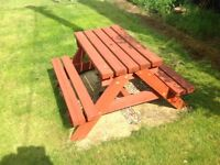 Sturdy Picnic bench for children & Adults