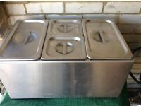 Bain Marie stainless steel. Formerly used on a burger van. Good condition