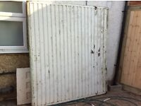 FREE Up and over white garage door white an internal wood door 44x76x198