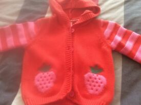 Girls Knitted Hooded Cardigan