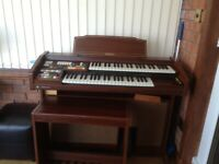Technics electric organ and stool