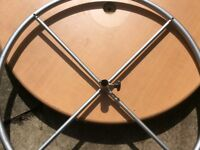 Round clothes rail good for charity shop retail use