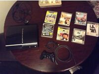 PS3 good condition one controller 7 games