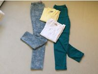 ALL NEW ITEMS.. 2 pairs of trousers and 2 light weight cardigans.( All size 12)