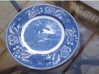 "Earthenware 10"" ""Woodland"" Plate by Burslem England"