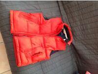 Gap puff jacket gilet 8-9 years