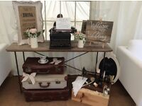WEDDING HIRE vintage, rustic, ladders,post boxes, venue decorations 5*reviews tree slices lots more