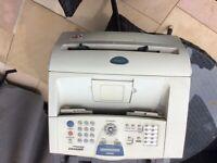 Brother fax machine superG3 33.6kbps