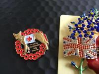 Two lovely enamel badges