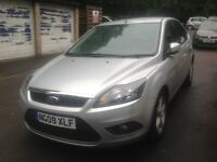 2009 Ford Focus 1.6 Zetec, 5 Door, Silver, MOT till 2 Aug 2018, FSH, 2 Keys, HPI Clear