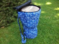 Demje drum bag small size padded with one external pocket and back pack carry handles