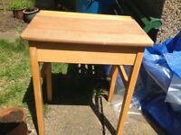 Old style wooden school desk.